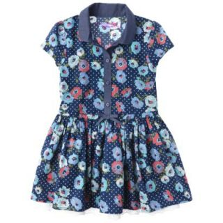 Genuine Kids from OshKosh Infant Toddler Girls Shirt Dress   Deep Water 2T