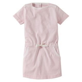 Burts Bees Baby Infant Girls Stripe Boatneck Dress   Blush/Cloud 12 M