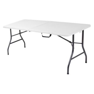 Cosco 6 ft. Centerfold Blow Molded Folding Table Multicolor   14678WSP1