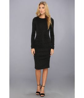 Nicole Miller Kimberly Speckled Jersey Dress Womens Dress (Black)