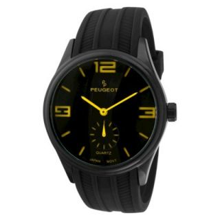 Mens Peugeot Sport Watch   Black/Yellow