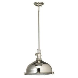 Kichler 2666PN Arts and Crafts/Mission Pendant 1 Light Fixture Polished Nickel