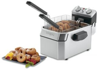 Waring Countertop Single Deep Fryer w/ 10 lb Capacity & 3 Baskets, Timer, 208V