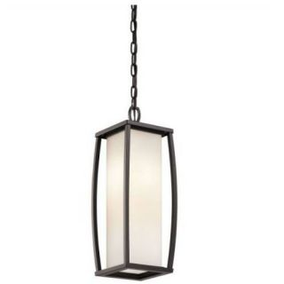Kichler 49341AZ Outdoor Light, Transitional Pendant 2 Light Fixture Architectural Bronze