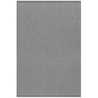 Recife Saddle Stitch Grey Rug (510 X 92) (GreySecondary colors WhitePattern StripeTip We recommend the use of a non skid pad to keep the rug in place on smooth surfaces.All rug sizes are approximate. Due to the difference of monitor colors, some rug co