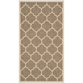 Safavieh Indoor/ Outdoor Courtyard Brown/ Bone Area Rug (27 X 5)