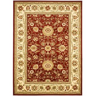 Lyndhurst Collection Majestic Red/ Ivory Rug (6 X 9)