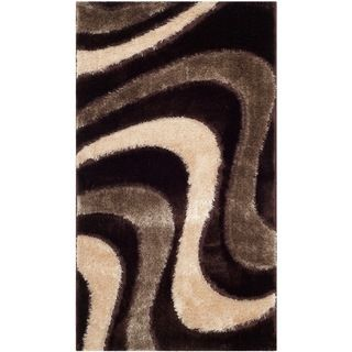 Safavieh Shag Brown/ Beige Rug (3 X 5)