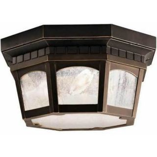 Kichler 9538RZ Outdoor Light, Classic (Formal Traditional) Flush Mount 3 Light Fixture Olde Bronze
