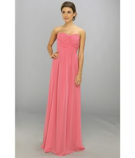 Donna Morgan Strapless Chiffon Gown   Stephanie Womens Dress (Pink)