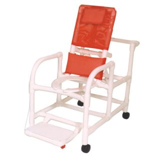 MJM International Echo Reclining Shower Chair with Footrest Set of  E195 3TW