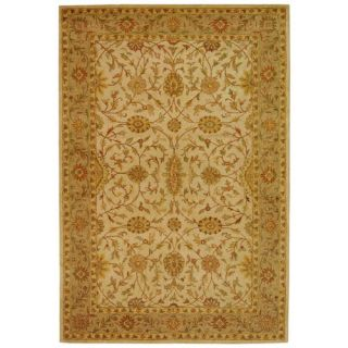 Safavieh Antiquities Ivory/Light Green Rug AT17A Rug Size 4 x 6