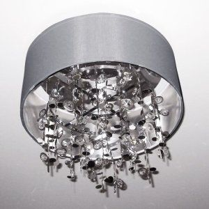 Dainolite DAI PIC164FH PC SV Universal 4 Light Crystal Semi Flush Fixture