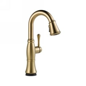 Delta Faucet 9997T CZ DST Cassidy Single Handle Pull Down Bar/Prep Faucet with T