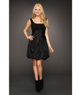 Jessica Simpson Sleeveless Wrap Bubble Dress Womens Dress (Black)