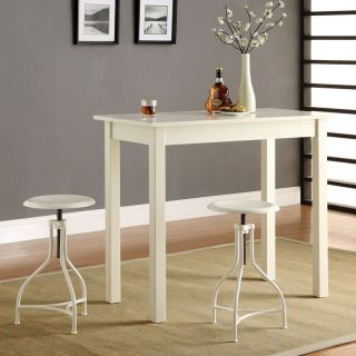Carolina Chair and Table Co Tavern 3 Piece White Pub Table Set   with Ansley