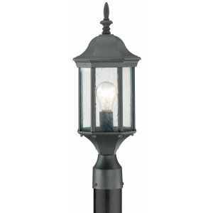 Thomas Lighting THO SL90507 Hawthorne Lantern post Black 1x100W 120