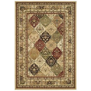 Lyndhurst Collection Multicolor/beige Rug (8 X 11)
