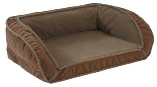 Fleece Deep Dish Dog Bed With Memory Foam / Small Dogs Up To 40 Lbs.