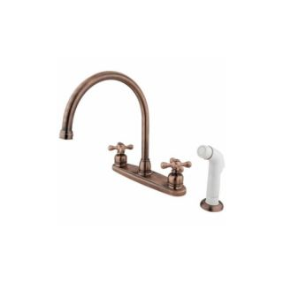 Elements of Design EB726AX Universal Goose Neck Centerset Kitchen Faucet With Sp