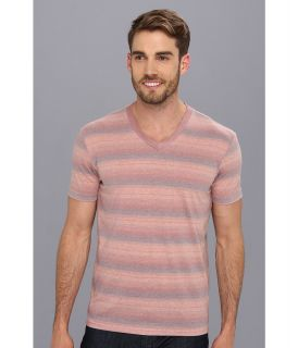 Lucky Brand Baja Striped V Neck Mens T Shirt (Tan)