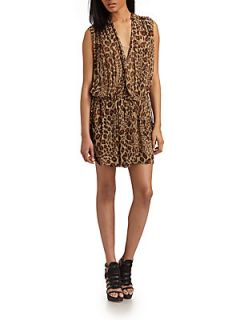 Rebel Chic Silk Dress   Leopard