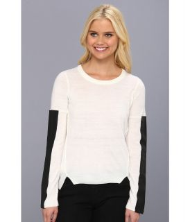 BCBGeneration L/S Round Neck Sweater Womens Sweater (White)
