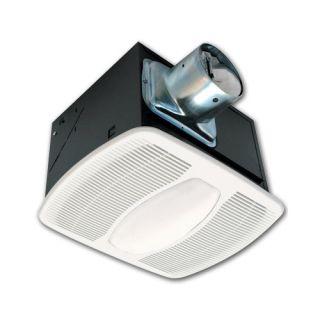 Air King AKF100LS Bathroom Fan, 100 CFM w/ Fluorescent Light for 4 Duct