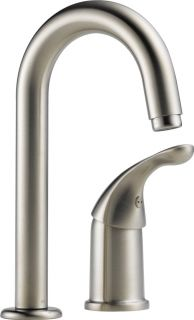 Delta 1903SSDST Classic Single Handle Bar/Prep Faucet, Not CA/VT Compliant Stainless Steel