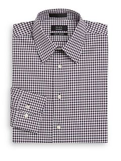 Gingham Non Iron Dress Shirt/Slim Fit   Night Shade