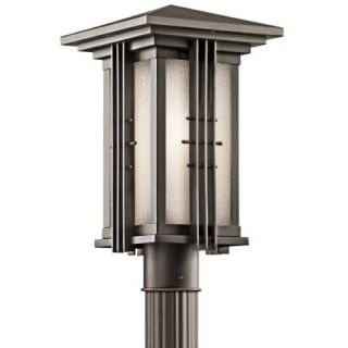 Kichler 49162OZ Outdoor Light, Arts and Crafts/Mission Post Mount 1 Light Fixture Olde Bronze