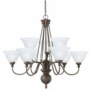Thomas Lighting THO SL819323 Cambridge Chandelier Colonial Bronze 9x