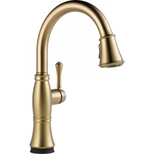 Delta Faucet 9197T CZ DST Cassidy Single Handle Pull Down Kitchen Faucet with To