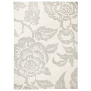 Threshold Wool Floral Area Rug   Shell (7x10)