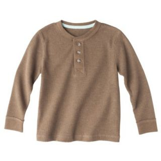 Cherokee Infant Toddler Boys Long Sleeve Thermal Henley Shirt   Mud Hut 12 M