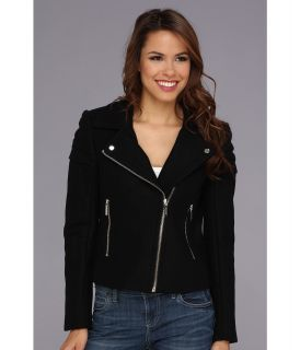 MICHAEL Michael Kors Moto Wool Jacket Womens Coat (Black)