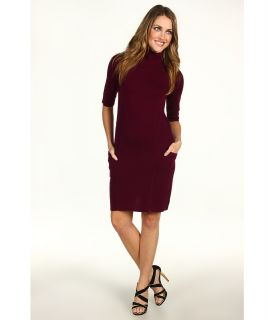 BCBGMAXAZRIA Mirabelle Turtle Neck Sweater Dress Womens Dress (Purple)