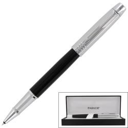 Parker Im Premium Custom Black Chrome Ct Fine Point Rollerball Pen (Black/chromeInk color Black Point type FineRefillable )