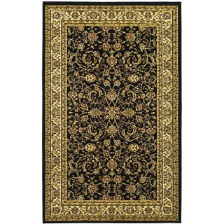 Lyndhurst Collection Black/ivory Polypropylene Rug (33 X 53)