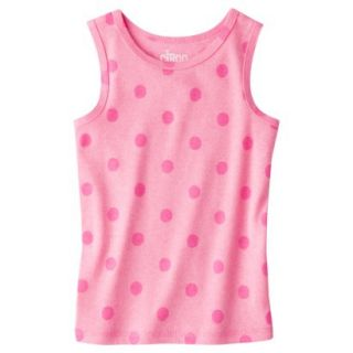 Circo Infant Toddler Girls Ribbed Polka Dot Tank Top   Dazzle Pink 18 M
