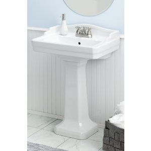 Cheviot 553 WH 1 Essex Pedestal Sink with Single Hole Faucet Drilling