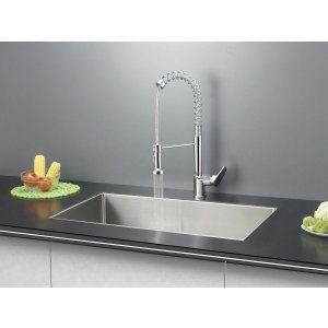 Ruvati RVC1321 Combo Stainless Steel Kitchen Sink and Chrome Faucet Set