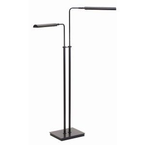 House of Troy HOU G300 2 BLK Generation Adjustable Double Floor LED Lamp Matt Bl