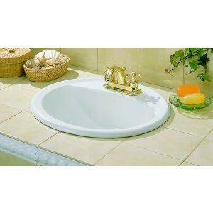 Cheviot 1167 WH 1 Ashton Drop In Basin with Single Hole Faucet Drilling