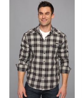 Lucky Brand Boundary Plaid Western Mens Long Sleeve Button Up (Black)