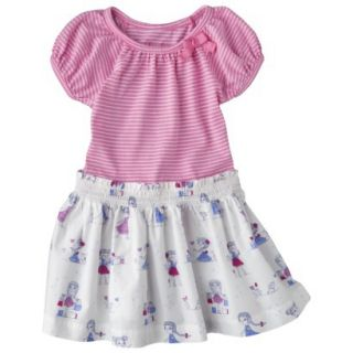 Cherokee Infant Toddler Girls Short Sleeve Dress   Strawberry Shake 5T