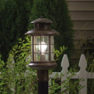 Kichler 9962RST Outdoor Light, Transitional Post Mount 1 Light Fixture Rustic