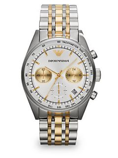 Emporio Armani Stainless Steel Chronograph Watch   Stainless Steel