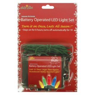 20ct Multi LED Battery Operated String Lights   Set of 2