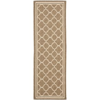 Safavieh Indoor/ Outdoor Courtyard Brown/ Bone Rug (23 X 16)